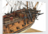 Ship of 60 guns, starboard foredeck detail by unknown