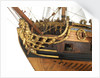 Ship of 50 guns, bow and figurehead detail by unknown