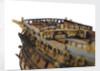 Ship of 96 guns, fo'c'sle bulkhead detail by unknown