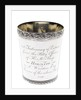 Silver beaker to the Purser of HMS 'Horatio', 1812 by A. B.