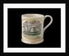 Orange lustre mug by unknown
