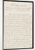 Letter from the Sandwich Papers by unknown