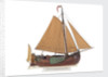 Model of a Dutch sailing cargo botter by unknown