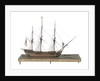 Warship (Fr, circa 1800) by unknown
