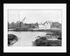 St. Osyth, Essex, the river with hay laden spritsail barge and village by unknown
