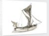 A full hull model of a Thames sailing barge by unknown
