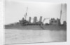 Heavy cruiser HMS 'Cornwall' (1926) close up amidships by unknown