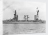 Battleship 'Moreno' (Arg, 1911) close up amidships by unknown