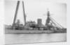 Coast defence battleship 'Gustaf V' (Swe, 1918) close-up amidships by unknown