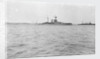 HMS Malaya (1915) in the foreground, armoured cruiser HMS Minotaur (1906) in the distance at anchor in Scapa Flow around February-April 1916 by unknown