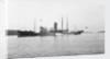 Fishery cruiser 'Muirchu' (Ih, 1908), ex 'Helga', with fishing vessels alongside by unknown
