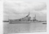 HMS 'Sirius' light cruiser (1940) under way in Portsmouth Harbour by unknown