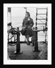 Elisabeth Jacobsenin shore clothes seated on the poop rail, aboard 4 masted barque 'Parma' (Fi, 1902), ex 'Arrow' (Ruben de Cloux) by Alan Villiers