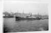 'Dunstanburgh' (Br, 1912) general cargo, short sea, at moorings in the Thames by unknown