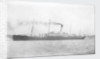 Photograph of the passenger liner 'Herefordshire' (1905) under way by unknown