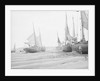 """Barges taking sand and gravel at low tide on """"The Crow"""", North of Appledore, North Devon by W. C. Fox"""