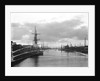 A view of the inner harbour at sunset from the harbour entrance west of the road bridge at Lowestoft, Suffolk by Smiths Suitall Ltd.