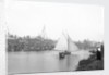 A view of the quay at Rowhedge during an unidentified festival, taken from the Wivenhoe side of the River Colne by Smiths Suitall Ltd.