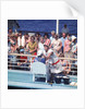Comic hijinx aboard an unspecified cruise ship keeps the passengers entertained during the voyage - perhaps a variant of the Crossing the Line (the Equator) ceremony? by Marine Photo Service
