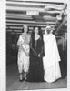 Passengers dress up in Middle Eastern costume for an obscure tableau aboard an unspecified cruise ship by Marine Photo Service