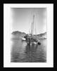 A small Yemeni sambuk lies at anchor, Ma'alla by Alan Villiers