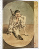 Oriental seaman with his left leg tucked behind his head by Gabriel Bray