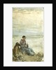 A Woman Seated in Sand Dunes Overlooking the Sea by William Lionel Wyllie
