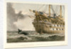 HMS 'Agamemnon' laying the Atlantic telegraph cable in 1858: a whale crosses the line by R. Dudley