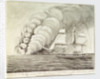 Volcano in the sea, as seen from His Majesty's Ship 'Sabrina', off the Azores, June 19th 1811 by John William Miles