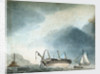 HMS 'Phoebe' aground by British School