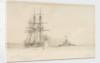 HMS 'Hercules' and 'Devastation' by Eduardo de Martino