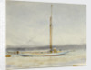 A large yacht at anchor by William Lionel Wyllie