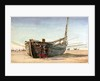 A Fishing Boat from St Valery-sur-Somme at Berck-sur-Mer by William Lionel Wyllie