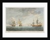 Taking of the 'Marquese de Antin' and 'Louis Erasme' by the Prince Frederick and Duke privateers by Charles Brooking