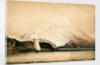 Mount Sarmiento, Tierra del Fuego, showing the survey ship HMS 'Beagle' by Conrad Martens