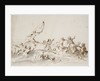 A fight in boats by Willem Van de Velde the Younger