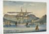 HMS 'Jupiter' (1813) at Table Bay, as a troop ship by J.F. W.