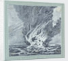 HMS 'Alceste' on fire, Pulo Leat by C. W. Browne