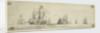 Dutch men of war and other vessels at sea by Willem van de Velde the Elder