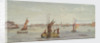 The Thames below Greenwich with hay barge and other shipping by Emily Frances Phipps Hornby
