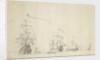 Dutch ships lying by by Willem van de Velde the Elder