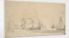 English ships, a ketch and a galliot in a light breeze, June 1673? by Willem van de Velde the Elder