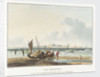 View of the estuary of the Somme at the Le Crotoy by Richard Parkes Bonington
