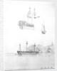 Sketches of HMS 'St Joseph' at anchor and HMS 'Lavinia Hamoaze' by John Tom