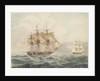 American brig chased by British frigate by William John Huggins