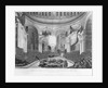 Interment of the Remains of the late Lord Viscount Nelson in the Cathedral of St Paul, London on the 9th of January 1806 by Augustus Charles Pugin