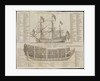 A ship of war, of the first rate with rigging & at anchor, the section of a first rate ship by J. Mynde