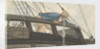 Deck scene, man being seasick over the ship's rail by Robert Streatfeild