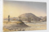 Suspension Bridge of hide thongs (but repaired with chain) over the Maypu, five leagues south of Santiago, Chile, Jany 11th 1851 by Edward Gennys Fanshawe