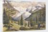 Mount Pers, Piz Palu, Zupo, Crastaguzza, Bernina, Morteratch & Buval; and the Morteratch Glacier; from near Montebello on the Bernina Road, 1880 [Switzerland] by Edward Gennys Fanshawe